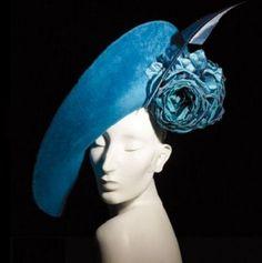 Philip Treacy fascinator hat blue