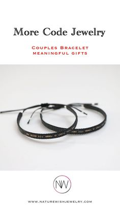 Many customers buy the couples bracelet to proclaim their love in Morse Code. Some like to give their children encouraging words. And some have even proposed marriage in Morse Code! #morsecodebracelet #morsecodejewelry #meaningfulgift #couplesbracelet Morse Code Bracelet, Bracelet Set, Bracelet Making, Presents For Your Boyfriend, Couple Bracelets, Beaded Wrap Bracelets, Meaningful Gifts, Seed Beads, Natural Gemstones