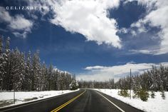 Summer Snowfall in Granby #travel #Colorado #snow #landscape