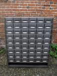 Industrial Nest of 54 drawers with an undershelf.