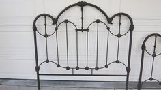 Victorian Cast Iron & Brass Queen-Size Bed for Bedroom
