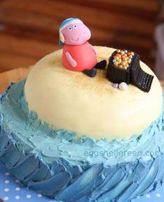 Pirate Peppa Pig cake by eggshellgreen