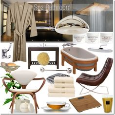 Spa Bathroom, created by elena-starling on Polyvore