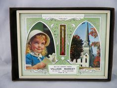 Salesman's Sample Picture Thermometer 4.5 x 6 by GsEclecticAttic