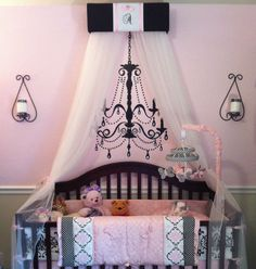 Crib Bed Canopy Princess Crown Valance Nursery Personalized Custom Cornice SALE #SoZoeyBoutiqueCreations