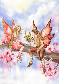For you... by JannaFairyArt on DeviantArt   *   Fairy Myth Mythical Mystical Legend Elf Faerie Fae Wings Fantasy Elves Faries Sprite Nymph Pixie Faeries Hadas Enchantment Forest Whimsical Whimsy Mischievous