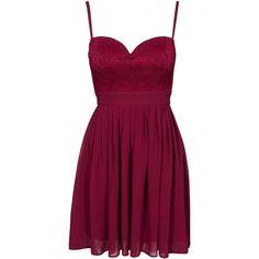Elise Ryan Lace Chiffon Mini Dress (130 AUD) ❤ liked on Polyvore featuring dresses, vestidos, short dresses, party dress, wine, womens-fashion, short purple dresses, purple dress, lace dress and short chiffon dress