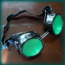 Lots of steampunk goggles