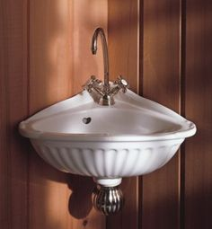 "Find, Shop for and Buy Herbeau 0106 ""Carline"" Vitreous China Corner Sink at QualityBath.com for $440.32 with free shipping!"