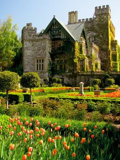 Hatley Castle and Hatley Park (Royal Roads University) in Victoria, Vancouver Island, British Columbia, Canada