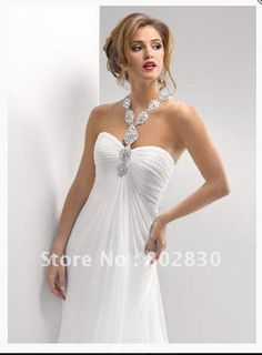 2012 Maggie Famous designer beach sexy satin halter v-neck beading pleats wedding dresses/gown