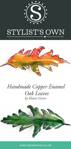 Stylist's Own® Copper Enamelled Forest Leaves Collection. Oak Leaves, Autumn Leaves, Fitness Tips, Fitness Workouts, Handmade Copper, Easy Workouts, Stay Fit, Stylists, Things To Come