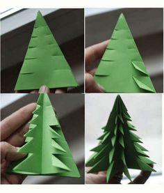 38 Super Ideas for origami christmas tree tutorial xmas Origami Christmas Tree, Noel Christmas, Winter Christmas, Christmas Gifts, Winter Kids, Paper Christmas Trees, Xmas Trees, Green Christmas, Outdoor Christmas