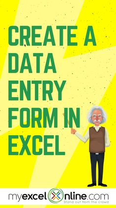 Whenever you wanted to enter data in Excel, it would take you a very long time to input your records one by one. There is a handy trick that can turn your Excel Table into a handy Data Entry Form in Excel! Check out the article! Computer Shortcut Keys, Computer Basics, Computer Help, Computer Technology, Computer Programming, Computer Tips, Teaching Technology, Microsoft Excel Formulas, Excel For Beginners