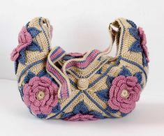 Ravelry: Konatka's Granny Square Flower Bag.