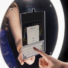 Award winning ring light iPad photo kiosk for the portable photo booth market. For all iPad Pros & Air Simple setup and ultra portable. Mirror Me Photo Booth, Portable Photo Booth, Berrien Springs, Aura Photo, 1 Real, Ipad Photo, Camera Settings, Cloud Based, Kiosk