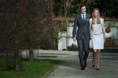 Today, official photo session on the occasion of engagement between  Prince Amedeo and  Elisabetta Rosboch von Wolkenstein took place at Schonenberg residence in Brussels