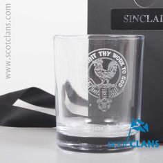 Sinclair Clan Crest Candle Votive Holder. Free worldwide shipping available.