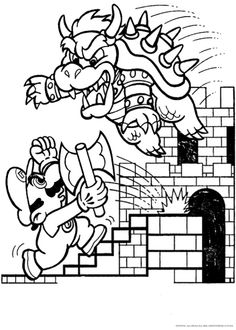 Mario Coloring PagesFree Pages For Kids