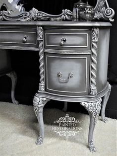 I love the way Painted Restorations did the finish on this vanity