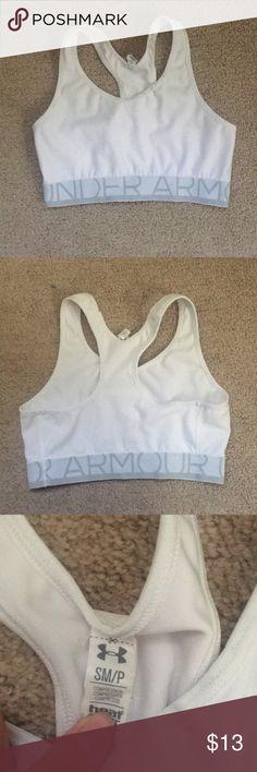 Under armour white sports bra Under armour white sports bra size small/p Under Armour Intimates & Sleepwear Bras