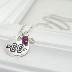 Cross Country Necklace  Hand Stamped Silver on by loveyourathlete, $30.00