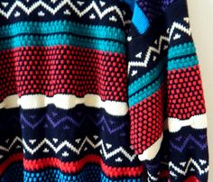 Bold Geometric Vintage Mens Sweater by thehappyforest
