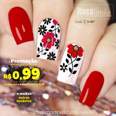 What Christmas manicure to choose for a festive mood - My Nails Flower Nail Designs, Diy Nail Designs, Flower Nail Art, American Nails, French Tip Nails, Nail Decorations, Fabulous Nails, Diy Nails, Glitter Nails