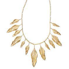 Sculpted Feather Multi Drop Necklace