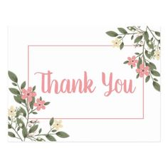 Floral Pink Thank You Wedding Flower Botanical Postcard - spring wedding diy marriage customize personalize couple idea individuel Pink And White Flowers, White Wedding Flowers, Floral Wedding, Aesthetic Pastel Wallpaper, Aesthetic Backgrounds, Background For Powerpoint Presentation, Background Ppt, Spring Wedding, Garden Wedding