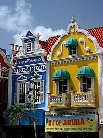 Downtown Oranjestad, Aruba.  Go to www.YourTravelVideos.com or just click on photo for home videos and much more on sites like this.