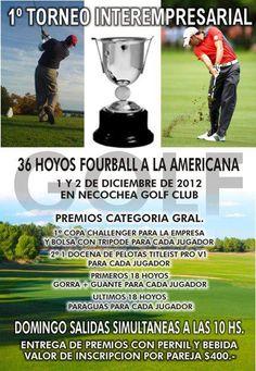 1er Torneo Interempresarial de Golf en Necochea