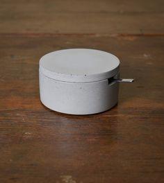 Concrete Salt Cellar with Spoon | Three Hearts Home