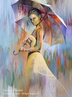 Abstract Figure Art Figure Painting Reproduction by FigureArt Modern Art Prints, Fine Art Prints, Tableaux Vivants, Umbrella Art, Gothic Fantasy Art, Figure Painting, Canvas Art Prints, Figurative Art, New Art