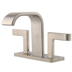 Pfister Skye 4 in. Centerset 2-Handle High-Arc Bathroom Faucet in Brushed Nickel-F-046-SYKK - The Home Depot
