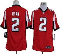 Nike Atlanta Falcons #2 Matt Ryan Red Team Color Men's Stitched NFL Game Jersey