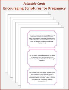 Encouraging Bible Verses for Pregnancy – Printable Cards