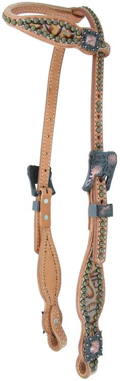 ✿ڿڰۣ(̆̃̃•Aussiegirl Headstall by Luan's Leathers