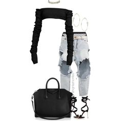 A fashion look from June 2017 featuring OneTeaspoon, Agent Provocateur and Gianvito Rossi sandals. Browse and shop related looks. Cute Swag Outfits, Cute Comfy Outfits, Simple Outfits, Stylish Outfits, Black Outfits, Dress Outfits, Polyvore Outfits, Polyvore Fashion, Kpop Fashion Outfits