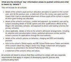 DfE School Information Regulations