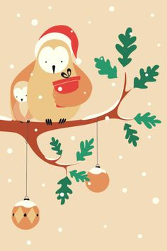 Alice De Page - Christmas Owl