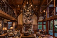 8,900 sf residence in the Traditional style that overlooks Lake Tahoe. The home contains 5 bedrooms, 4 car attached garage, 5 gas buring fireplaces, a spiral staircase and an exterior terrace with easy access down to the lake front. Architecture: David Bourke