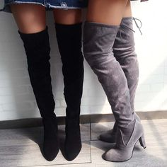 Tied Back Point Toe Knee-High Boots
