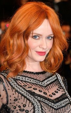 Christina Hendricks is the perfect makeup inspiration for almost any redhead. (Click for beauty tips!)