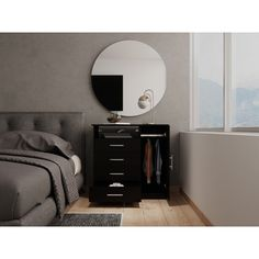 Ebern Designs Bohdan 4 Drawer Combo Dresser | Wayfair 4 Drawer Dresser, Dresser With Mirror, Cool Rooms For Teenagers, Open Shelving, Shelves, Flat Screen Tv Stand, Dovetail Drawers, Storage, Bed