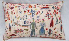 Hand painted wedding cushion - Rose de Borman