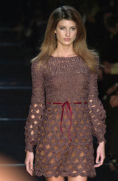 lindo vestido de crochet