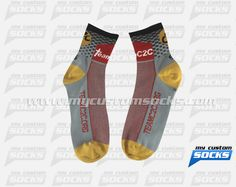 Socks designed by My Custom Socks for Team C2C in Tampa, Florida. Cycling socks made with Coolmax fabric. #Cycling custom socks - free quote! ////// Calcetas diseñadas por My Custom Socks para Team C2C en Tampa, Florida. Calcetas para Ciclismo hechas con tela Coolmax. #Ciclismo calcetas personalizadas - cotización gratis! www.mycustomsocks.com