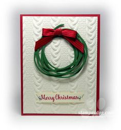 Easy Textured Christmas Card