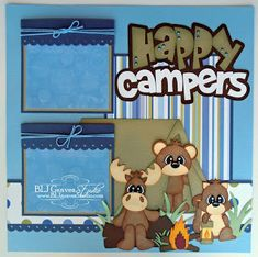 BLJ Graves Studio: Happy Campers Scrapbook Page
